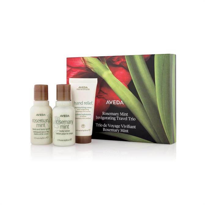 Aveda Rosemary Mint Invigorating Travel Trio Gift Set for Hands, Body & Hair