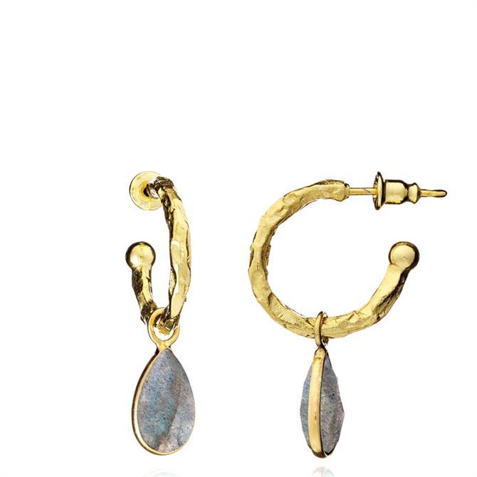 Azuni Marina Gemstone Hoop Earrings