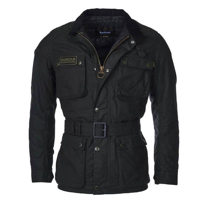 Barbour International Blakewell Slim Fit Wax Jacket in Sage
