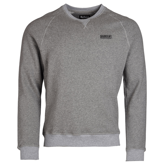 Barbour International Essential Grey Crew Sweater AW19