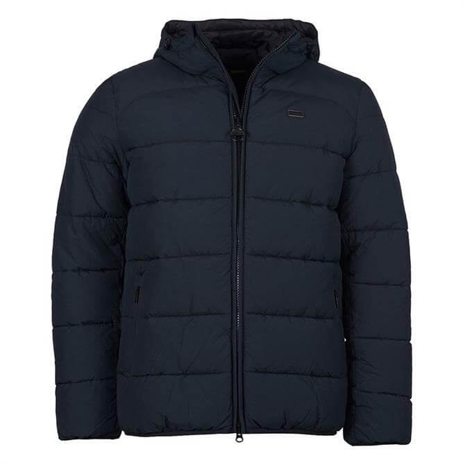 Barbour International Black Court Quilted Jacket