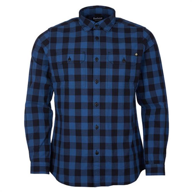 Barbour International Bold Blue Block Check Shirt