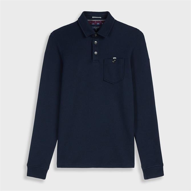 Ted Baker Akt Long Sleeved Polo Shirt