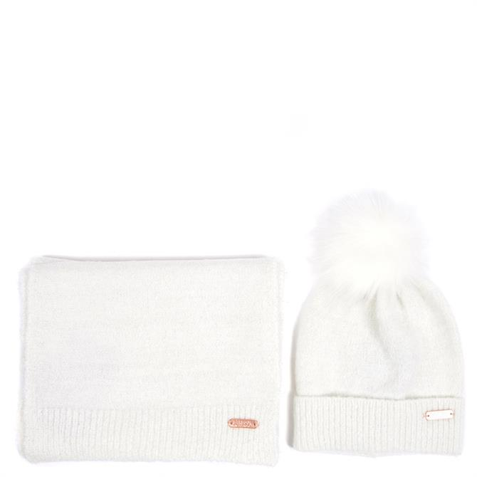 Barbour International Knitted Hat & Scarf Gift Set