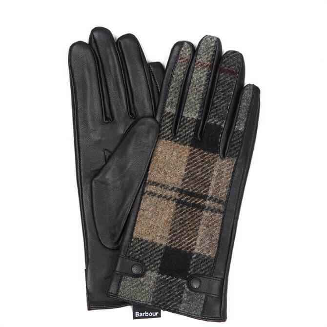 Barbour Galloway Winter Tartan Ladies Leather Gloves