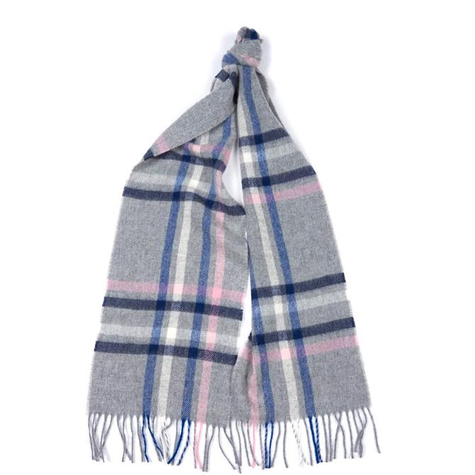 Barbour Moorland Check Grey Scarf