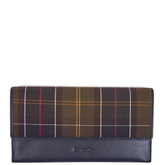Barbour Navy Leather Travel Organiser