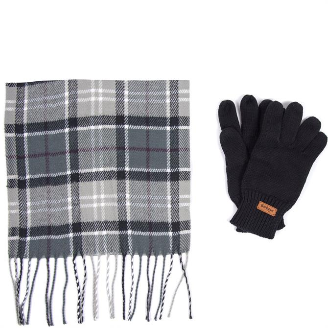 Barbour Scarf & Knitted Glove Gift Box Set