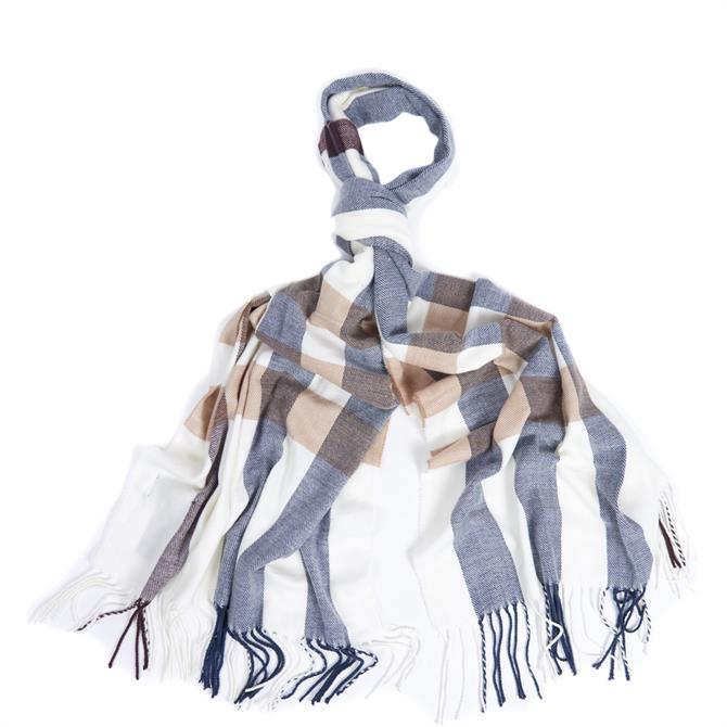 Barbour Skye Check Cloud/Navy Scarf