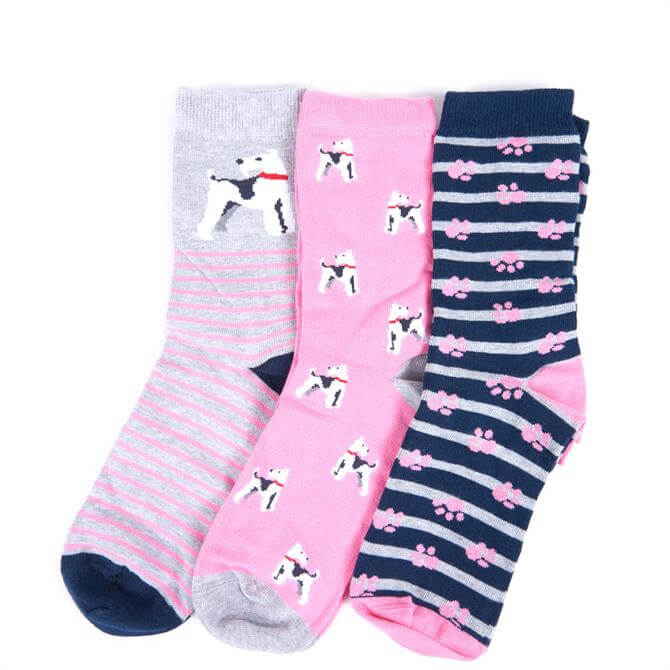 Barbour Terrier Paw Sock Gift Set Box Set