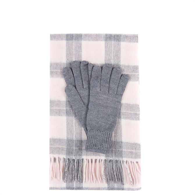 Barbour Wool Tartan Scarf & Glove Set