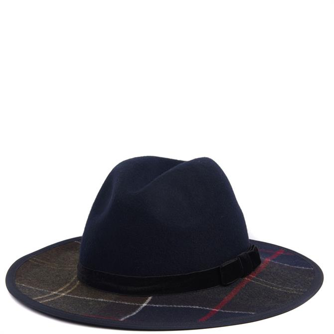 Barbour Thornhill Navy Fedora Hat
