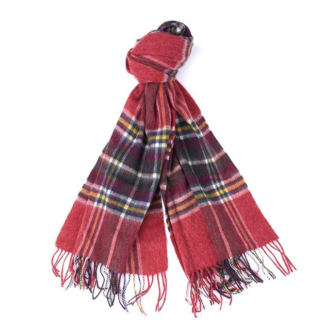 Barbour Lonnen Red Check Wrap