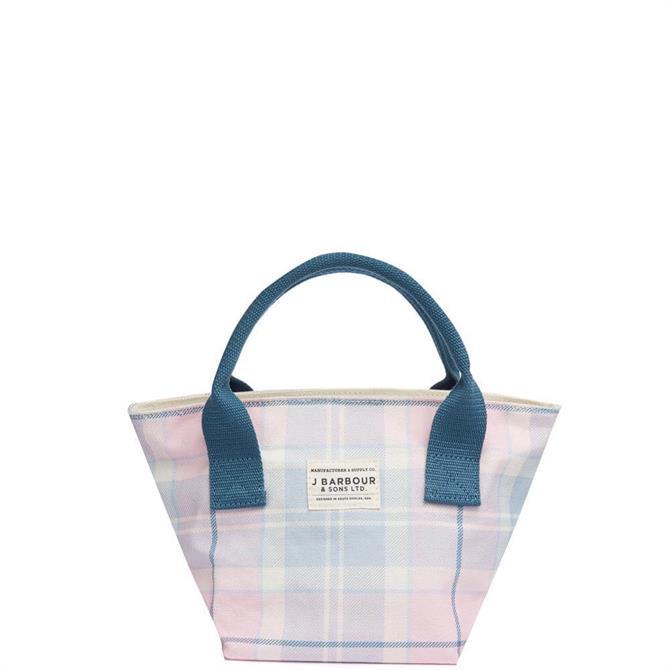Barbour Leathen Blossom Tartan Tote Bag