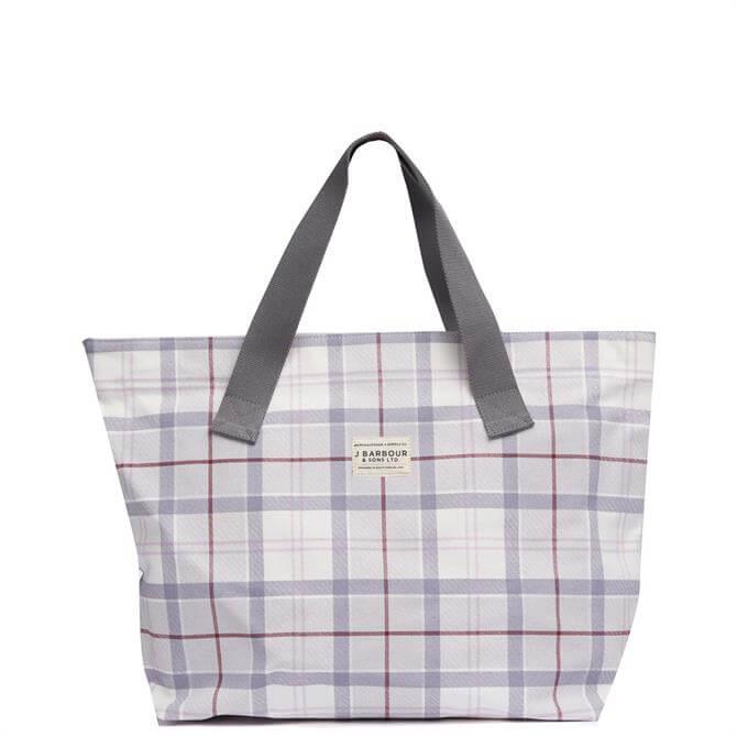 Barbour Platinum Tartan Printer Shopper Bag
