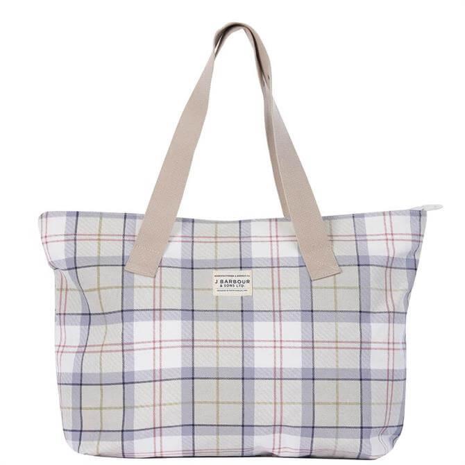 Barbour Mist Tartan Printed Shopper Bag