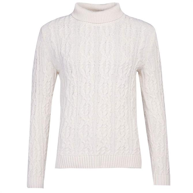 Barbour Burne Cable Knit Roll Neck Sweater