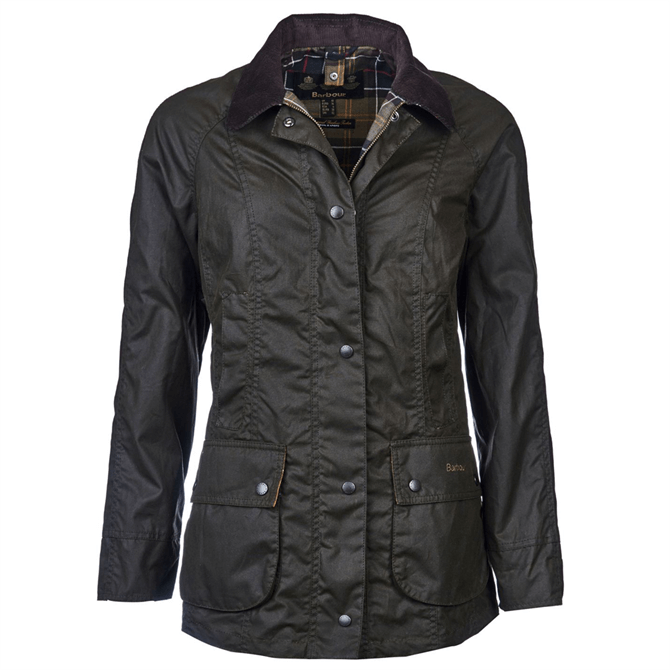 Barbour Classic Olive Beadnell Wax Jacket