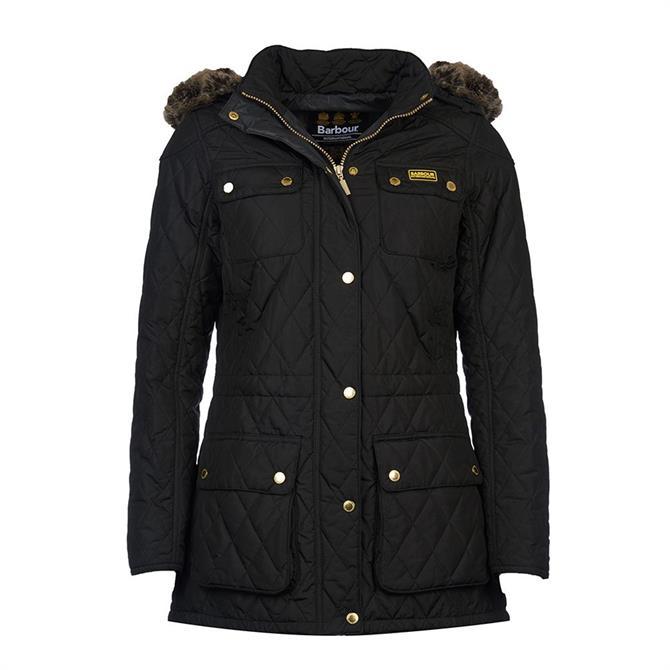 Barbour International Black Enduro Quilted Jacket