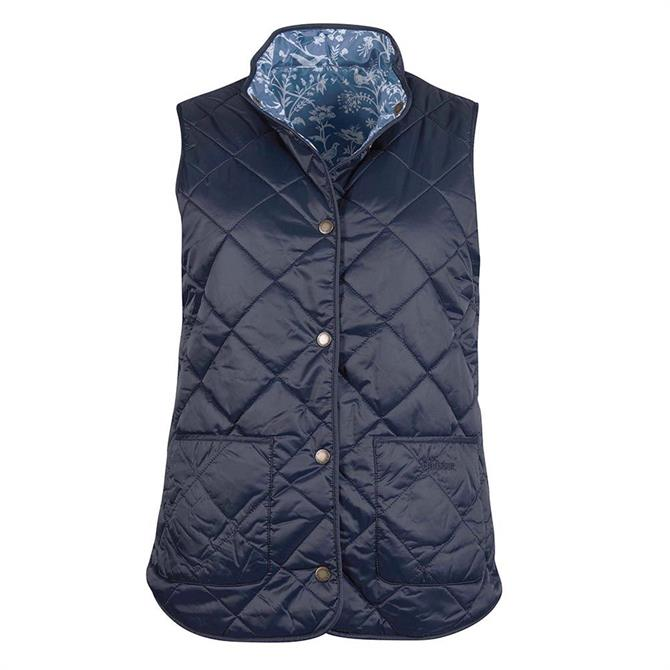 Barbour Laura Ashley Navy Larch Gilet