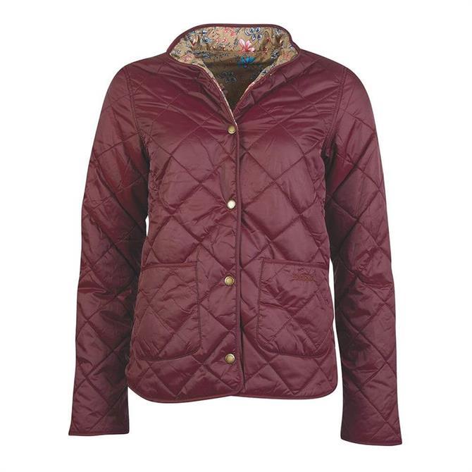 Barbour Laura Ashley Elm Bordeaux Quilted Jacket