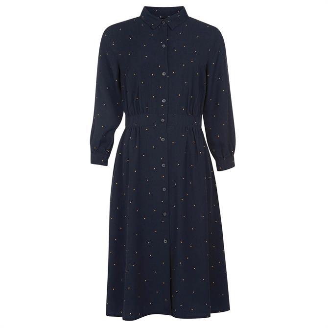 Barbour Merlin Navy Shirt Dress