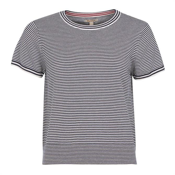 Barbour Tidepool Stripe Short Sleeve Knit Top