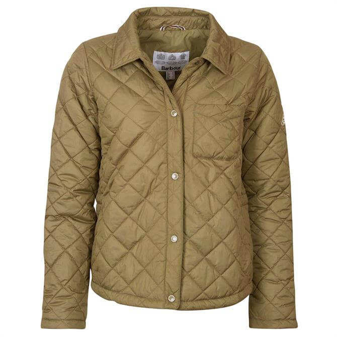 Barbour Blue Caps Quilted Green Jacket