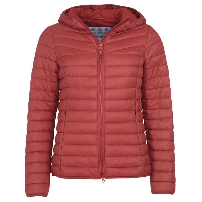 Barbour Red Hopper Quilted Jacket