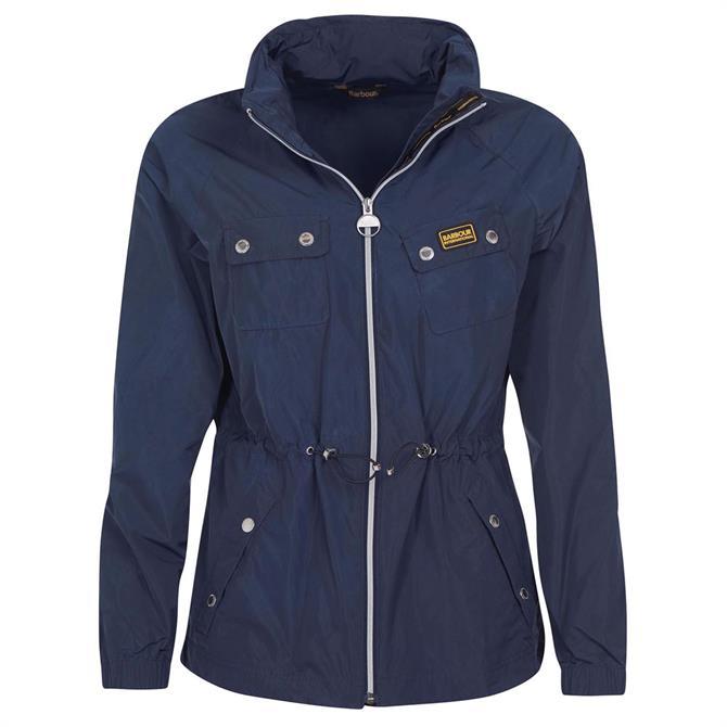 Barbour International Sugo Blue Showerproof Jacket
