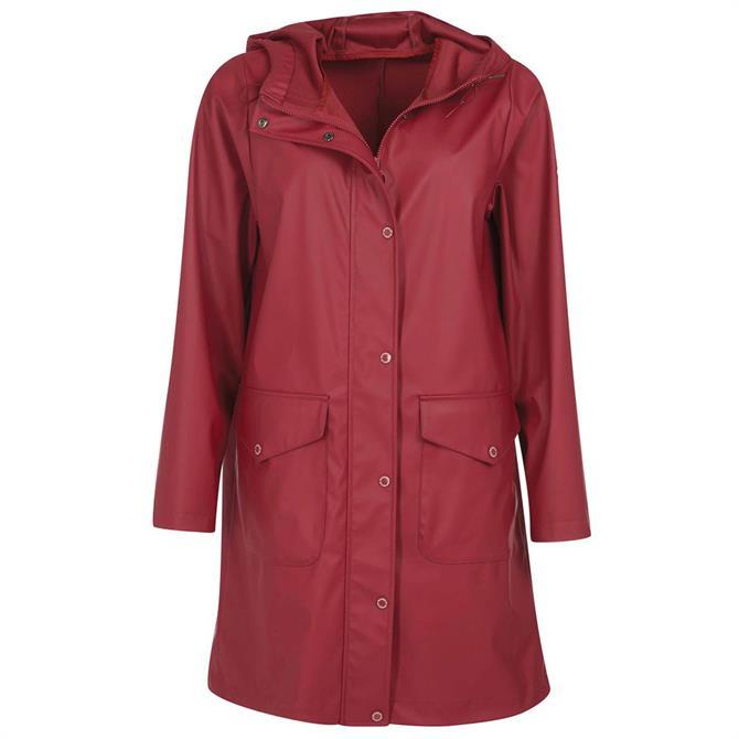 Barbour Red Sandridge Showerproof Jacket