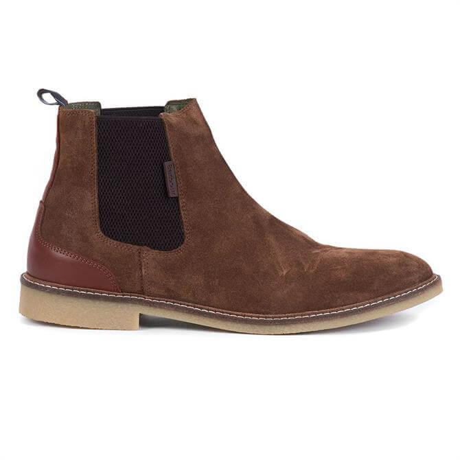 Barbour Acatama Brown Suede Chelsea Boots