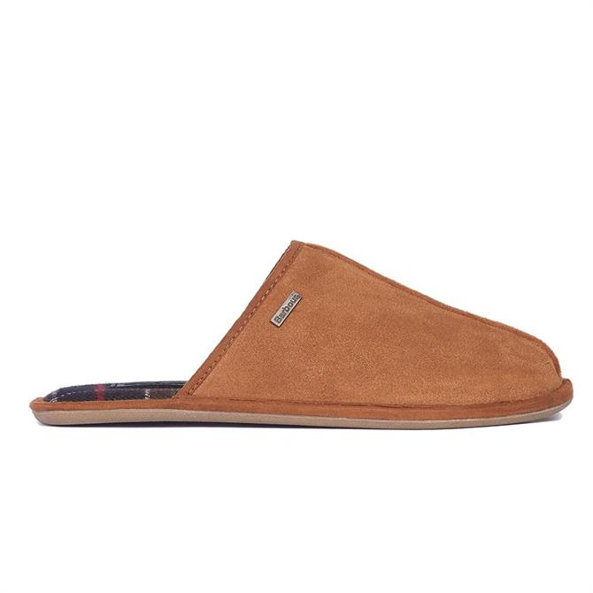 Barbour Malone Camel Suede Slippers