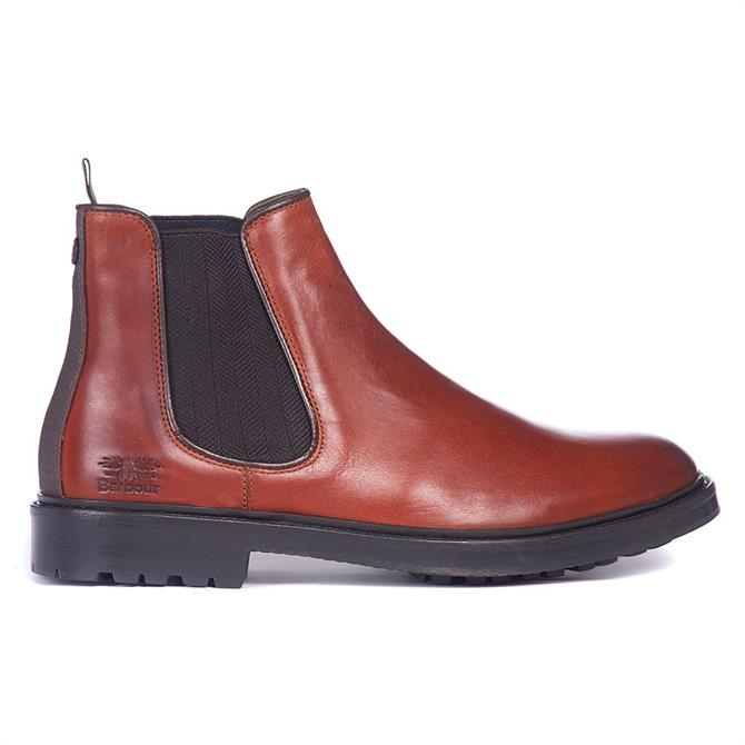 Barbour Wansbeck Brown Leather Chelsea Boots