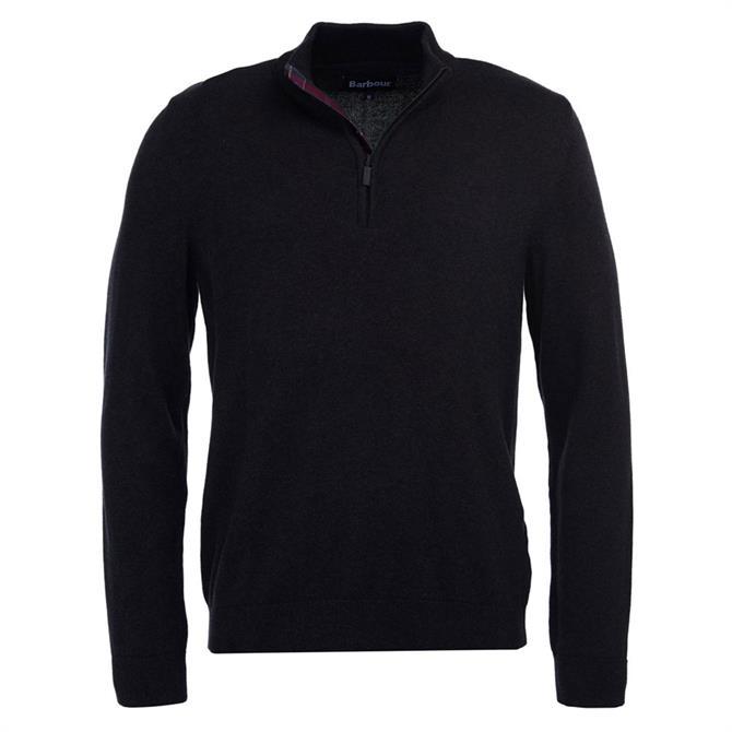 Barbour Avoch Half Zip Charcoal Grey Sweater