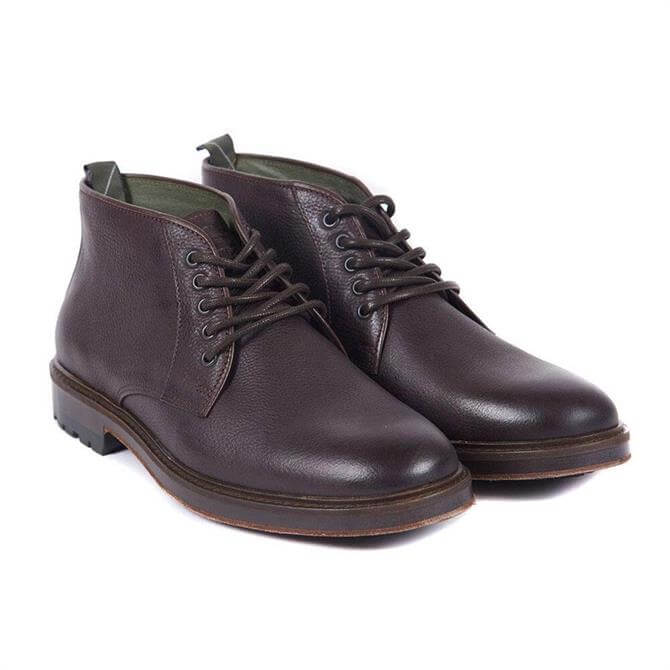 Barbour Derwent Chukka Boots in Dark Brown