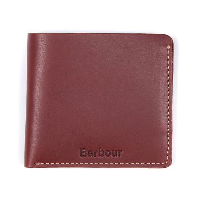 Barbour Hadleigh Brown Leather Billfold Wallet