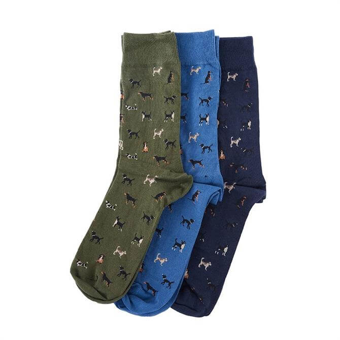 Barbour Dog Motif Socks Gift Box