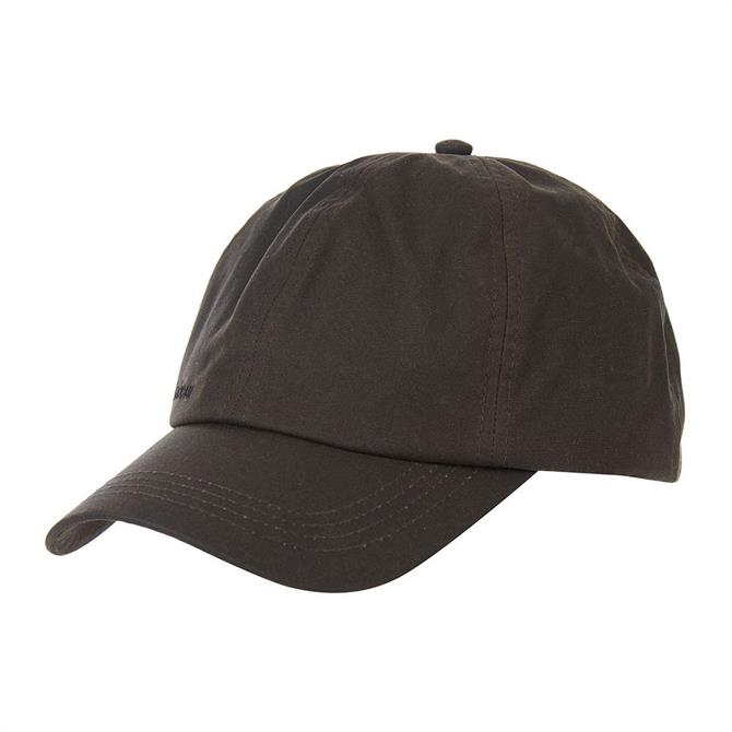 Barbour Olive Green Wax Sports Cap