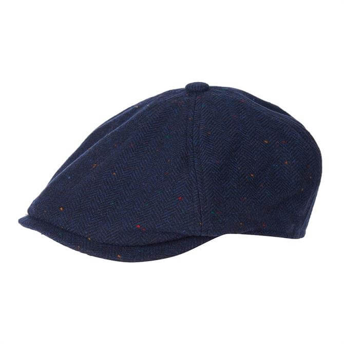 Barbour Tinsley Navy Herringbone Bakerboy Hat