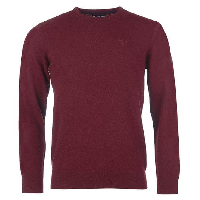Barbour Essential Lambswool Red Crew Neck Sweater