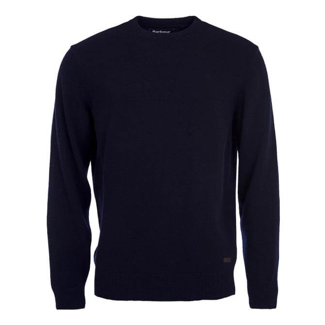 Barbour Patch Wool Crew Neck Jumper
