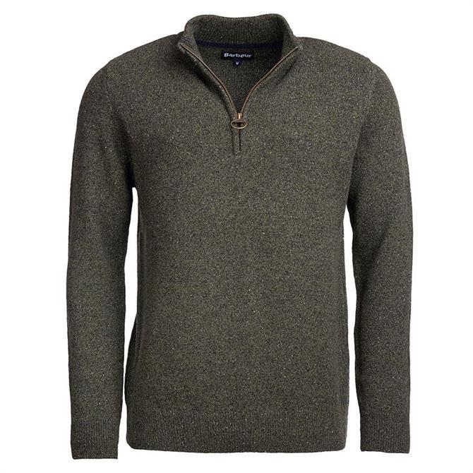 Barbour Tisbury Grey Half Zip Sweater