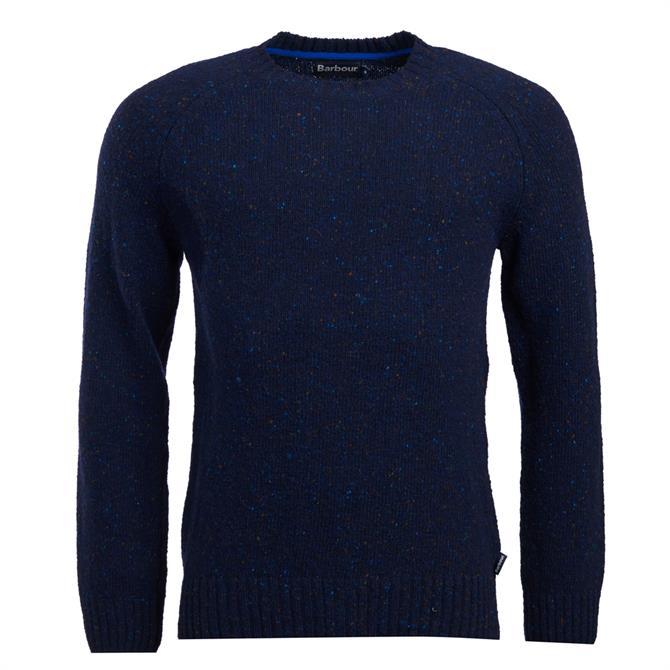 Barbour Navy Netherton Crew Neck Sweater