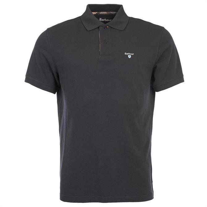 Barbour Tartan Pique Cotton Polo Shirt