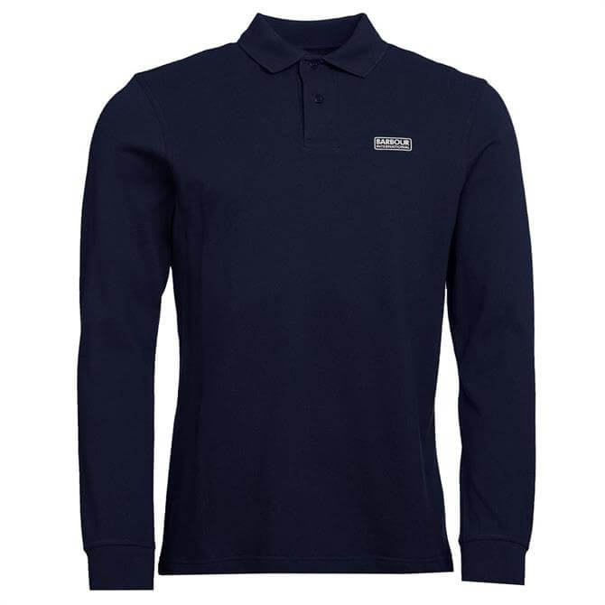 Barbour International Navy Long Sleeved Polo Shirt