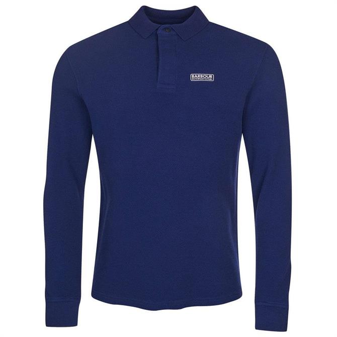 Barbout International Honeycomb Pique Long Sleeve Polo Shirt