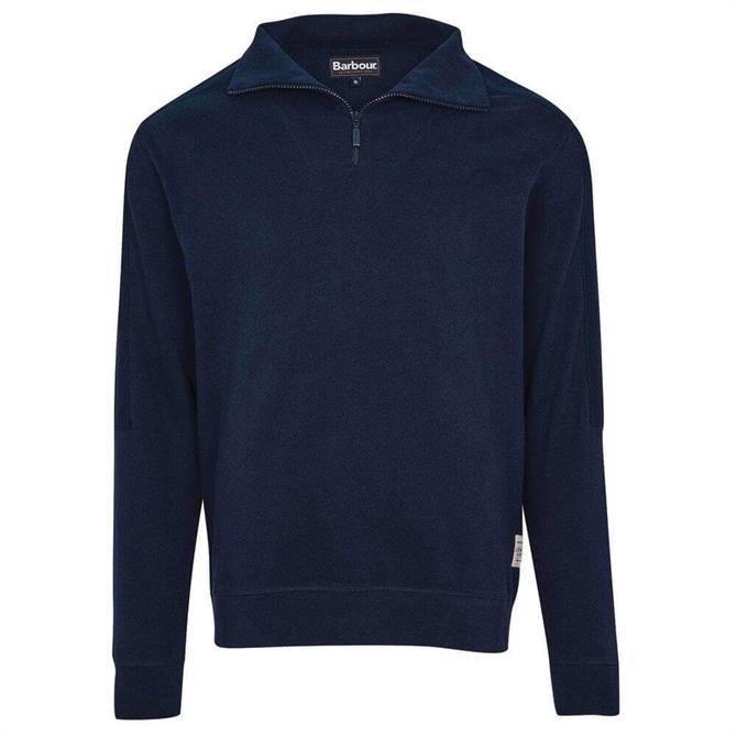 Barbour Harbour Navy Half Zip Sweatshirt
