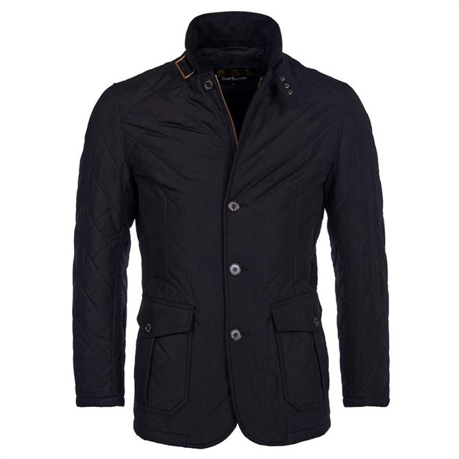 Barbour Black Quilted Lutz Jacket