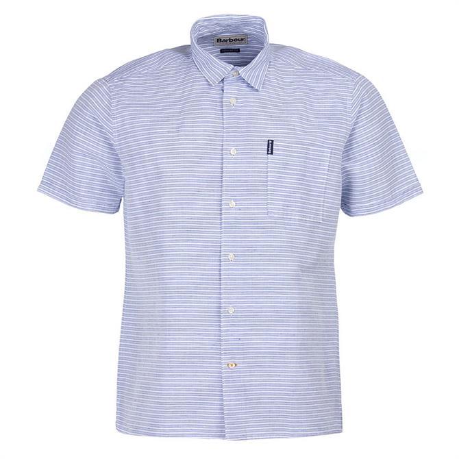 Barbour Linen Mix 5 Short Sleeved Striped Shirt